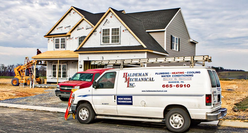 new construction plumbing and heating contractor in manheim, pa